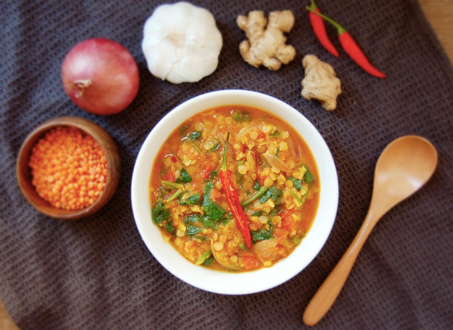 Spicy Tomato & Lentil Soup | Mari Jasmine
